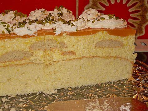 typisch italienischer kuchen pistazien pfirsichcreme torte rezept mit bild