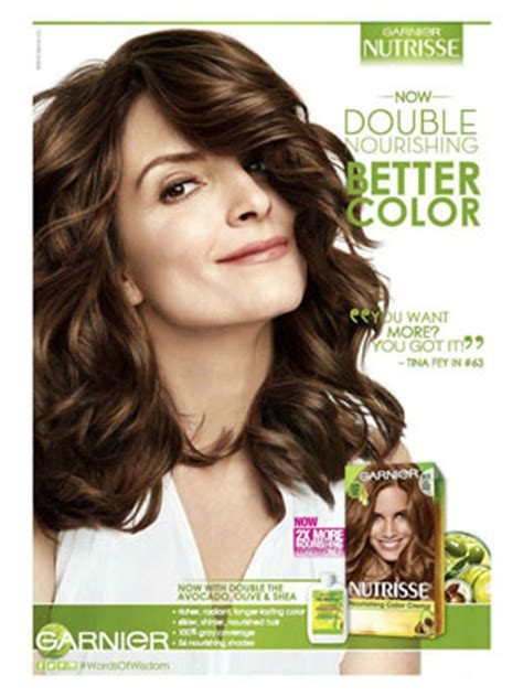 what shade of garnier does tina fey use tina fey actress celebrity endorsements celebrity