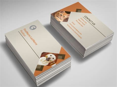 charity business card templates animal charity business card template