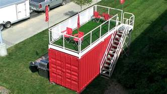 Patio Cover Set Tailgating In A Luxury Container The Biggest Can In The