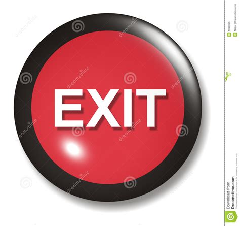exit button orb royalty free stock image image 1098096
