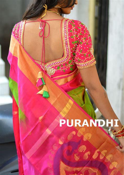Season Blouse beautiful pattu saree for this wedding season with