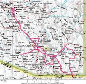 map of southeast arizona southeast arizona
