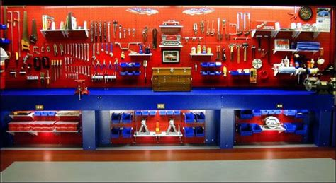 tool bench organization ideas ultimate garage tool bench workshop lighting light decorating inspiration