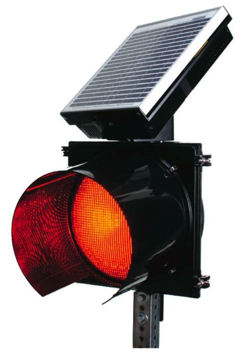 Solar Powered 24 Hour Flashing Stop Beacon Solar Power Traffic Lights