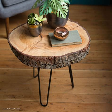 Wood Coffee Table Diy Diy Wood Slice Table Diy Wood Stylish And Coffee