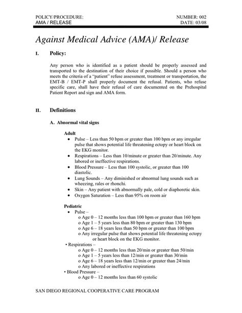 against advice form against advice ama release in word and pdf formats