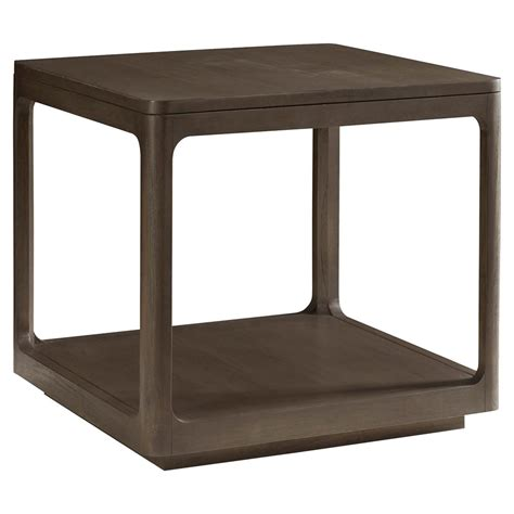 cube accent table robin modern classic polished teak cube end table kathy