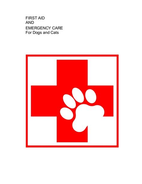 caring for puppies aid and emergency care for dogs and cats e book