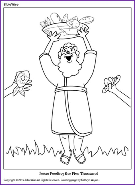 coloring pages jesus feeds the five thousand free jesus feeds five thousand coloring pages