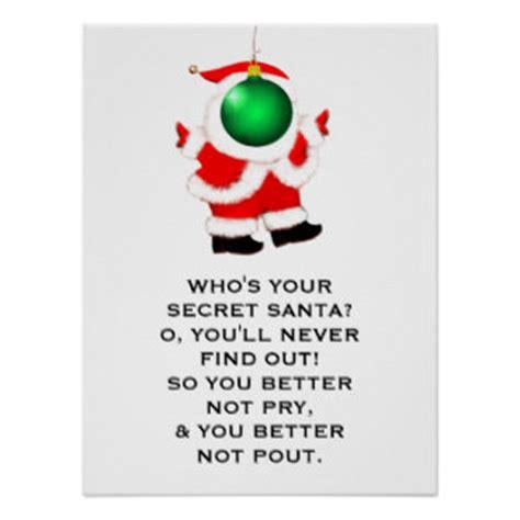 s day secret santa secret santa poem gifts on zazzle