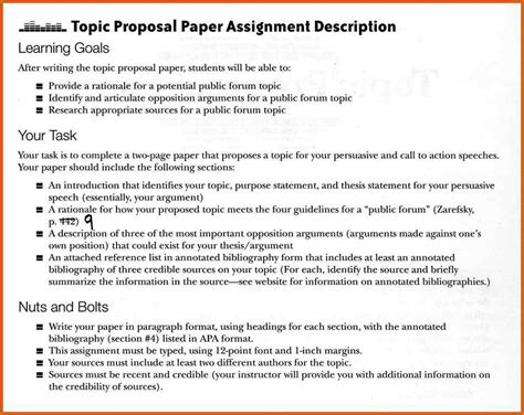thesis rationale abstract exle of research proposal paper in apa format