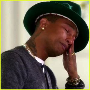 pharrell williams cries happy tears over his song s
