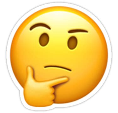 imagenes emoji pensando quot emoji think quot stickers by emoji2 redbubble