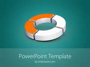 3d powerpoint templates 3d donut diagram powerpoint template slidesbase