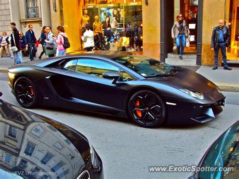 Lamborghini Aventador Italy Lamborghini Aventador Spotted In Milan Italy On 10 20 2012