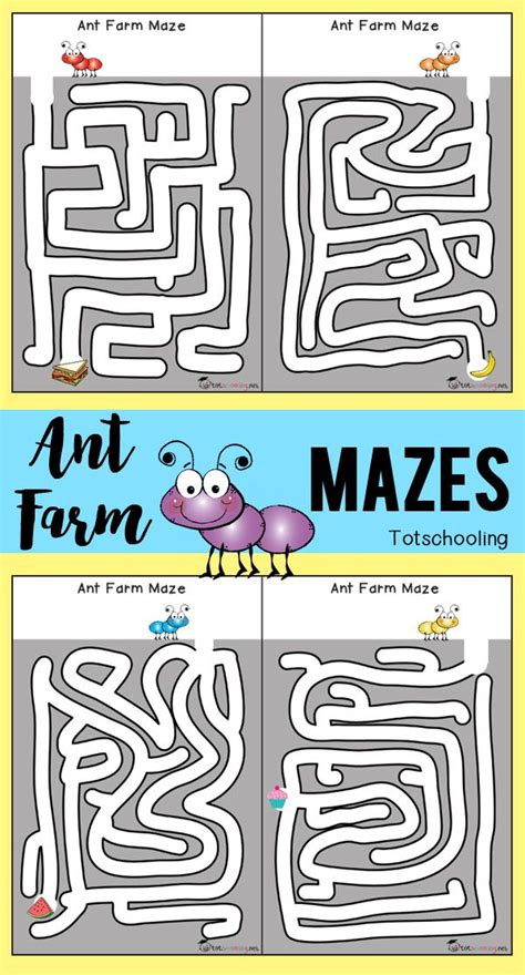 printable insect mazes 835 best bugs insect activities for kids images on