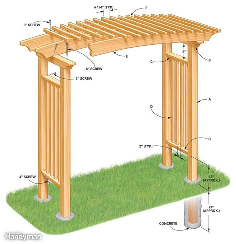 build  garden arbor  family handyman