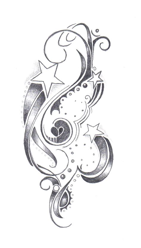 stars with swirls tattoo designs for shannon by farfallaloduca on deviantart