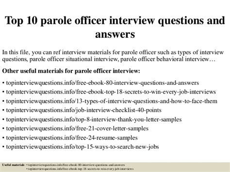 parole 10 lettere top 10 parole officer questions and answers