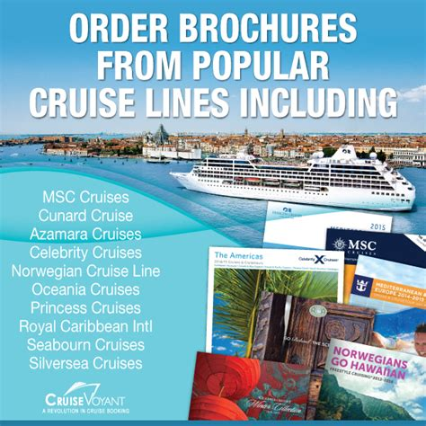norwegian cruise brochure cruise voyant now offering cruise brochures from all major