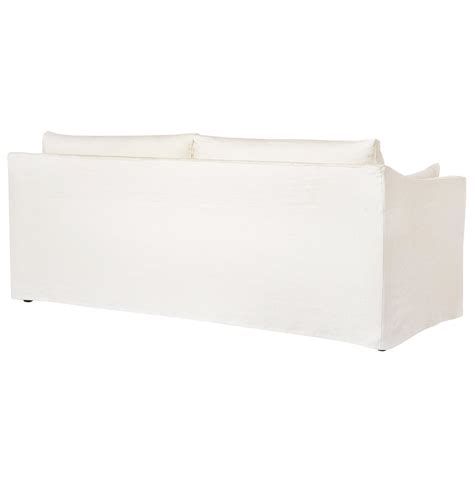 84 Inch Sofa Cisco Brothers Denim White Coastal Style Slip