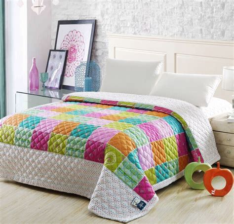 Thin Quilts For Summer 2015 Summer Patchwork Quilt Soft Airconditioning Quilt For