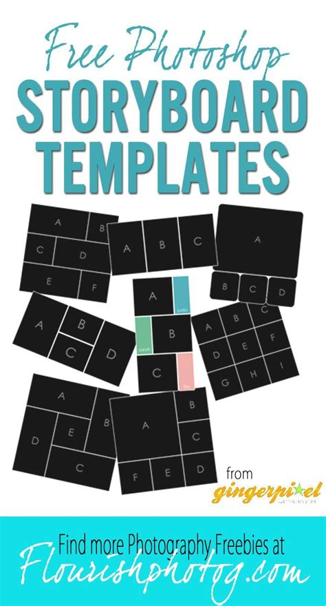 free storyboard templates for photoshop 28 best free collage templates images on