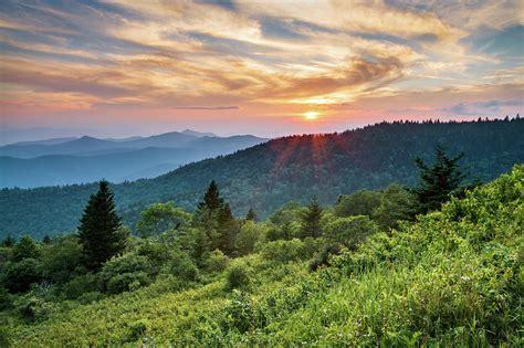 blue ridge parkway nc sunset north carolina mountains