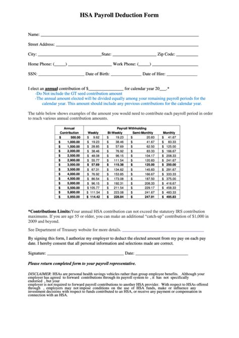 Top 19 Payroll Deduction Form Templates Free To Download In Pdf Format Hsa Enrollment Form Template