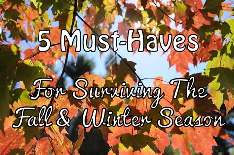 Your Must Haves For The Season by 5 Must Haves For Surviving The Fall Winter Season The