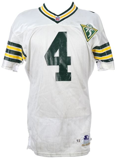 brett favre jersey lot detail 1993 brett favre green bay packers road jersey mears loa