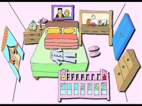 my bed in spanish clickable word picture for kids bedroom youtube