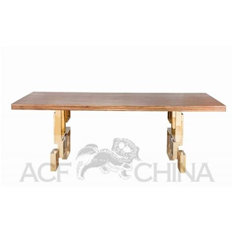 Ss Dining Table Stainless Steel Dining Table With Wood Top Acf China