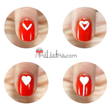 tutorial de uñas instagram especial san valent 237 n tutorial manicura corazones