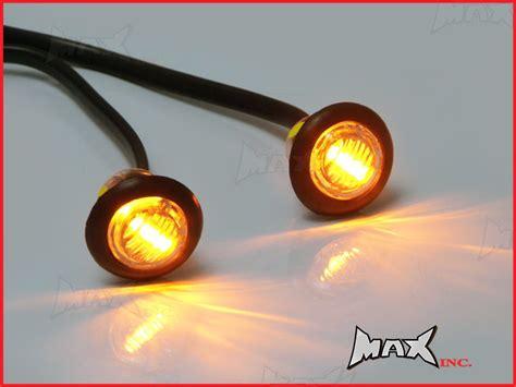 surface mount led lights 12v amber 12v round flush mount led mini marker lights ebay