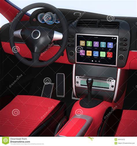 interior designs for cars smart house ideas smart house ideas smart car navigation interface in original design stock
