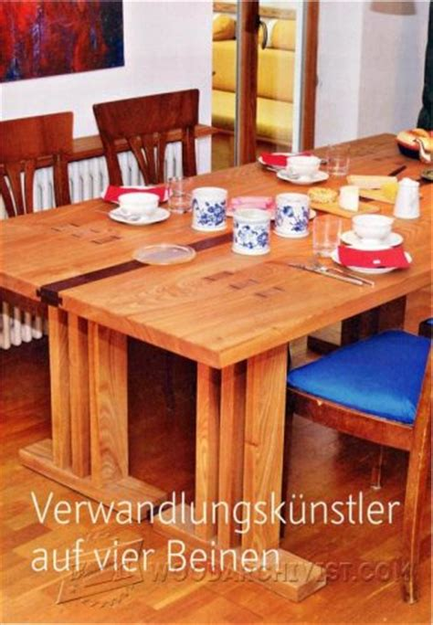 Arts And Crafts Dining Table Plans Woodarchivist Arts And Crafts Dining Table Plans