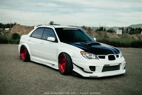 subaru wrx hatchback modified 2006 subaru wrx sti cars white modified wallpaper