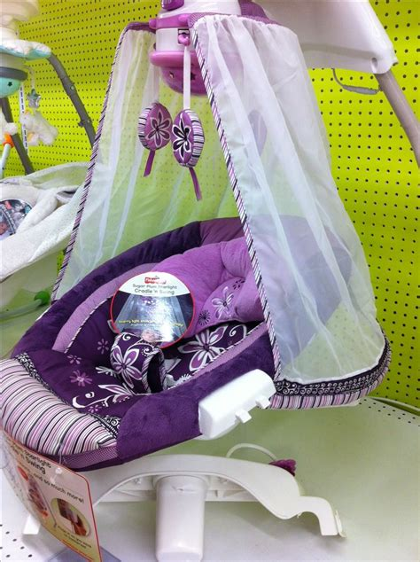 purple swing purple canopy baby swing at babies r us oh baby