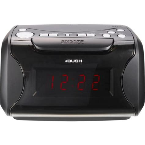 bush alarm clock radio with cd player black cd players cassette players home audio