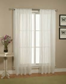 Window Sheer Curtains Home Linen Collections Pair Set Of White Sheer Curtains Window Treatments Panels Ebay