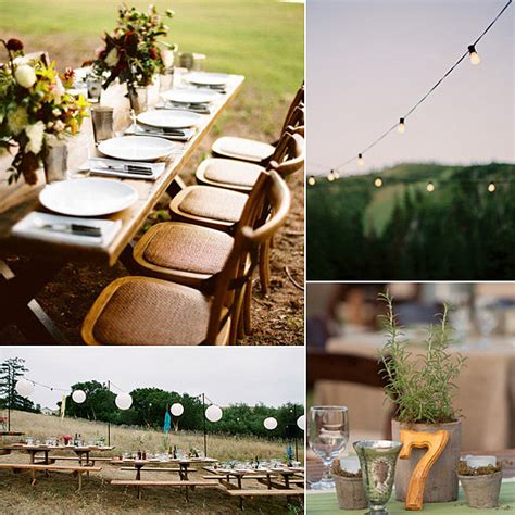 Diy Backyard Wedding Ideas by Outdoor Wedding Diy Ideas Popsugar Home