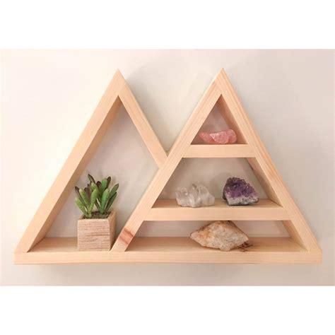 Triangle Wall Shelf triangle shelf crystal shelf shadow box wood shelf