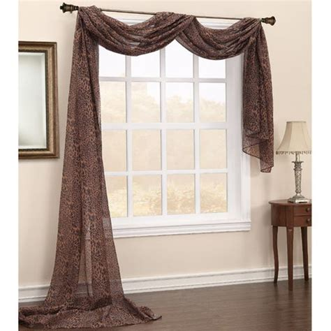 hanging scarf curtains simple tips to hang a window scarf home improvement