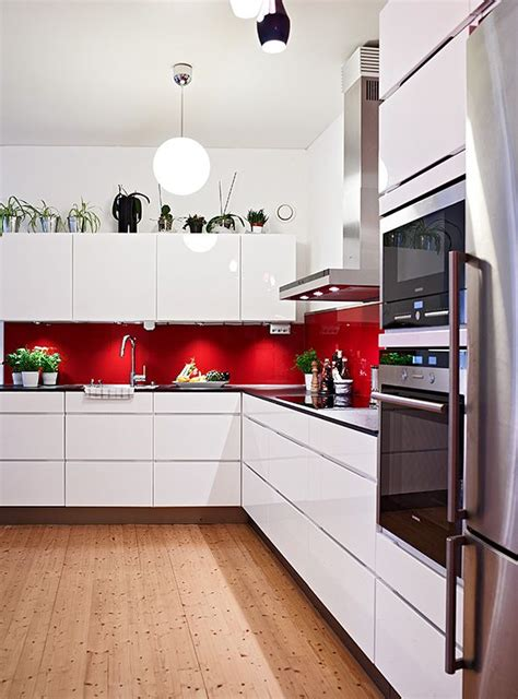 Splashback Ideas White Kitchen Splashback White Cabinets Silver Appliances And Wooden Floor Similar To My Colour