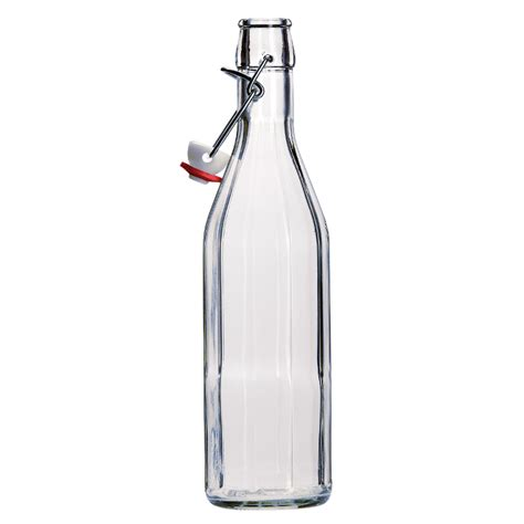 clear glass swing top bottles 500ml clear glass hexagonal costalata bottle with swing