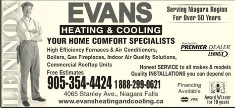 ontario home comfort complaints evans heating and cooling opening hours 4065 stanley