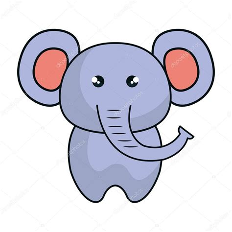 imagenes de animalitos kawaii estilo de animales kawaii lindo elefante vector de stock