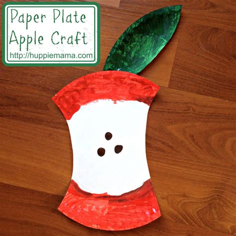Paper Plate Apple Craft - food craft paper plate apple our potluck family